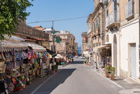 lair of an old shopping street in Calabria, Italy