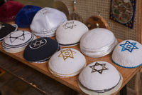 Beautiful design and collection of praying hats called Kippah or Kipa or Yarmulke