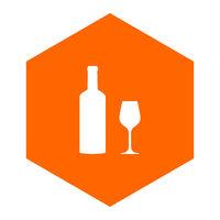 Weinglas und Wabe - Wine glass and comb