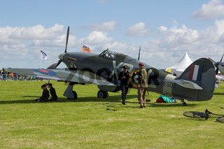 Oostwold, Netherlands May 25, 2015: A Hurricane at Oostwold Airshow
