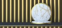 Abstract background white marble circle 3D