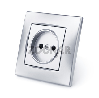 Silver wall electric outlet