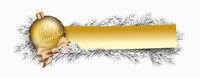 Golden Paper Banner Christmas Golden Bauble Twigs