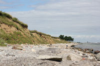 Cliff coast of the Baltic Sea on the Schwansen peninsula