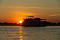 sunset on Chobe river, Botswana Africa