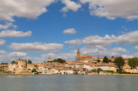 General view on Castelnaudary in France