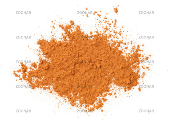 Cinnamon Powder Isolated Over White Background