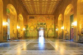 Stockholm City Hall ballroom