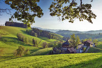 lonely farm house in hilly landscape, St.Maergen, Black Forest
