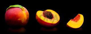 Fresh peach isolated on white