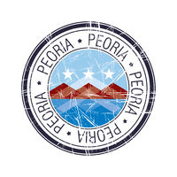 City of Peoria, Arizona vector stamp
