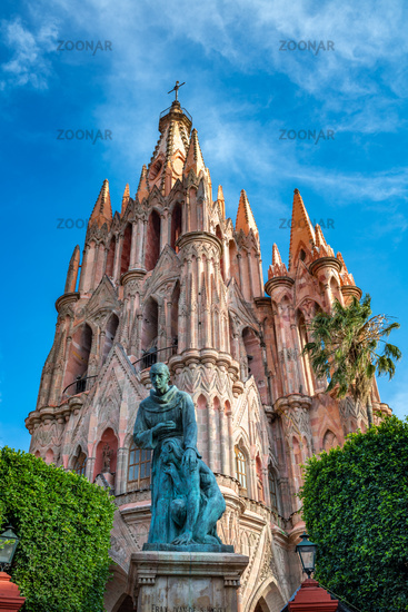 Parroquia de San Miguel Arcangel church in San Miguel de Allende, Mexico