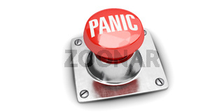 Panic button with white background