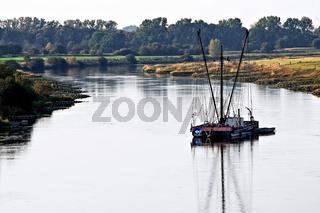 Heringsfischer auf der Weser