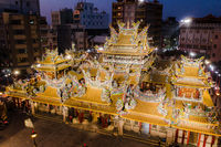aerial view of famous Beigang Chaotian Temple