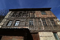 Houses of the Rhodope village of Shiroka Laka, Bulgaria