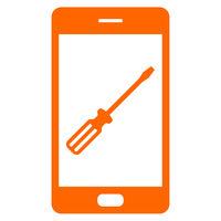 Schraubendreher und Smartphone - Screwdriver and smartphone