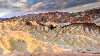 Zabriskie point in Death Valley NP US