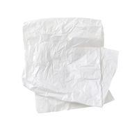 Crumpled white waxed packing paper