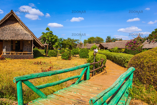Bungalows with grass roofs