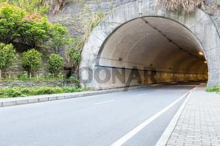 tunnel entrance closeup