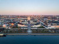 Amalienborg Palace and Marble Church in Copenhagen, Denmark
