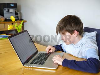Schüler im Homeschooling