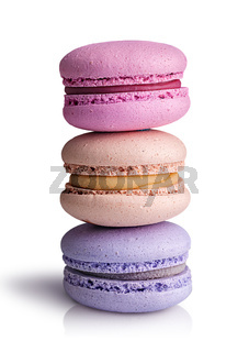Three macaroon an each other