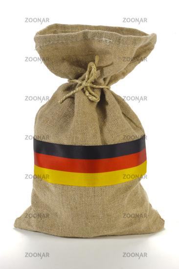 money bag of a german bank