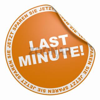 3D Aufkleber Orange - Last Minute!