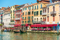 Houses by the Grand Canal in Venice