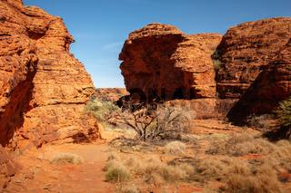 Kings Canyon in center Australia