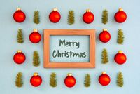 Christmas Texture, Ball, Branch, Frame, Merry Christmas