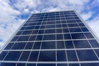 Solar panel on sky background