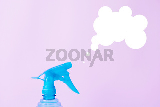 Home gardening spray bottle for plants. Spring cleaning concept