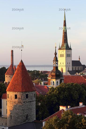 Evening panorama of Tallinn, the capital of Estonia