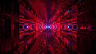 Red Laser Futuristic Spectrum 4k uhd 3d illustration background