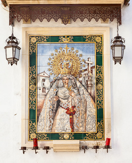 Catholic Altar in public street