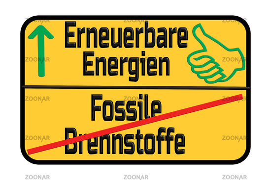 Traffic sign with the German words