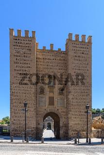 Alcantara Bridge on summer day in Toledo