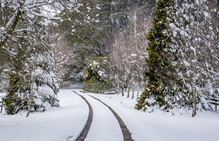 Snow covered landscape near Oberon
