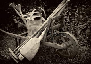 Gartengeräte Retro