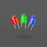 RGB Led Diodes on Black Background