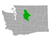 Karte von Chelan in Washington - Map of Chelan in Washington