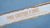 make gratitude a habit inspirational note