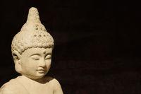 buddha statue head made of stone