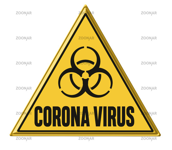 Corona Virus written on a warning sign