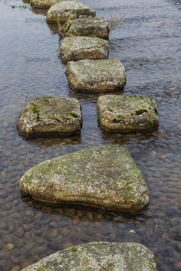 Stones bridge in Wulingyuan - Tianzi Avatar mountains nature park China - travel background