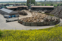 Waste wood storage in a landfill