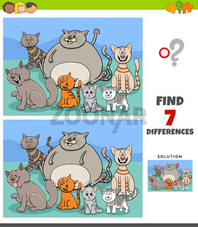 differences game with funny cats group